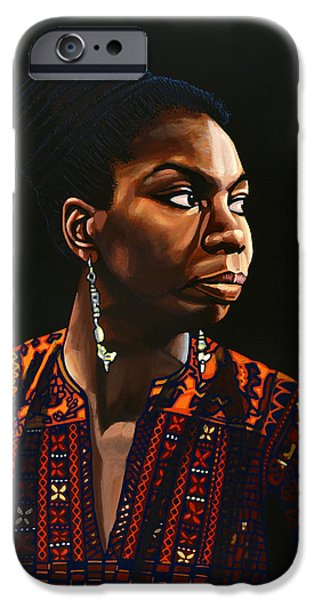 B.b.king iPhone Cases - Nina Simone iPhone Case by Paul Meijering