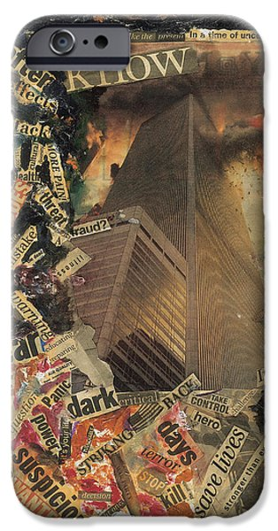 Twin Towers iPhone Cases - Nine Eleven iPhone Case by Ikahl Beckford