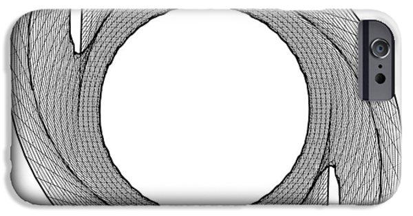 Cyberspace iPhone Cases - Ninja Stars Shuriken 3D Geometric Twisted Shape iPhone Case by Nenad  Cerovic