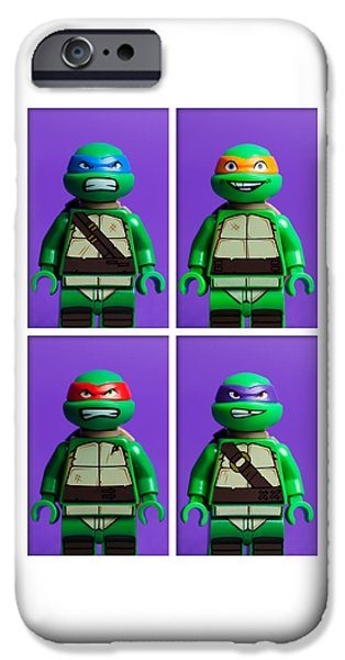 Raphael iPhone Cases - Ninja Turtles iPhone Case by Samuel Whitton
