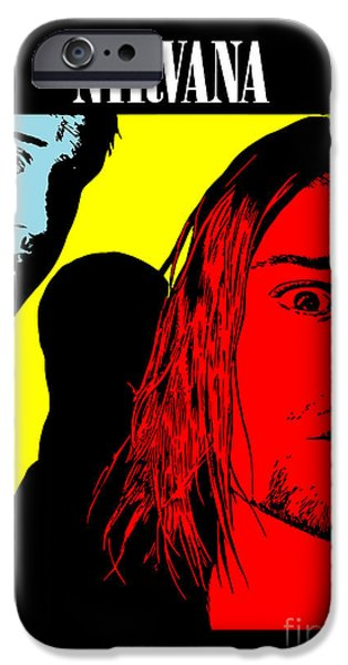 Famous Artist iPhone Cases - Nirvana No.01 iPhone Case by Caio Caldas