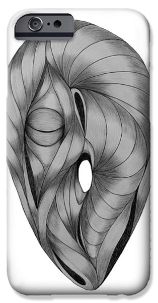 Pleasure Drawings iPhone Cases - Nirvana iPhone Case by Slava Shadrin