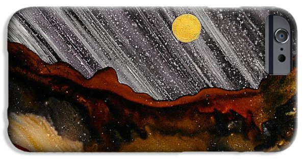 Stargazing Paintings iPhone Cases - No. 23 iPhone Case by Jen Amaya