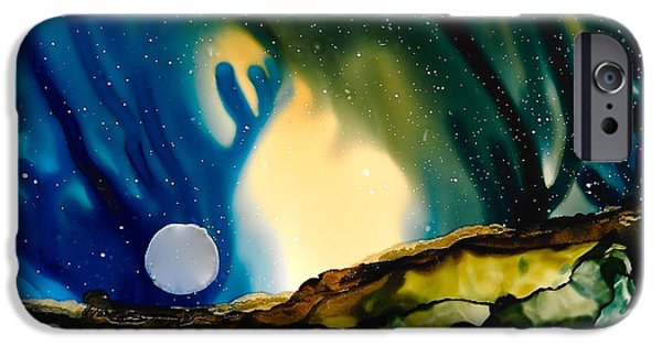 Stargazing Paintings iPhone Cases - No. 36 iPhone Case by Jen Amaya