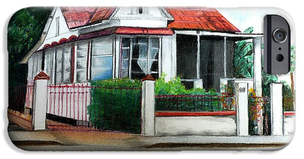 White House Pastels iPhone Cases - No 88 iPhone Case by Karin Kelshall- Best