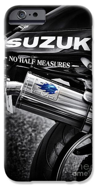 Suzuki iPhone Cases - No Half Measures iPhone Case by Tim Gainey