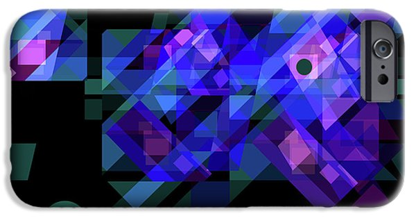 Abstract Digital Drawings iPhone Cases - No Illusions iPhone Case by Lynda Lehmann