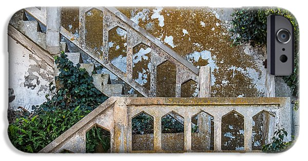 Alcatraz iPhone Cases - Stairway at Alcatraz iPhone Case by Patti Deters