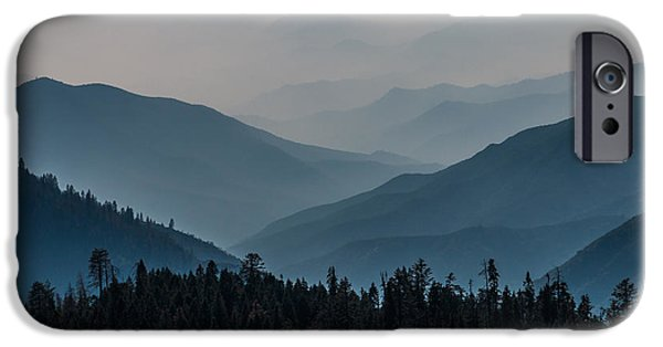 Mist iPhone Cases - Misty Blue shades of Generals Highway 2 iPhone Case by Patti Deters