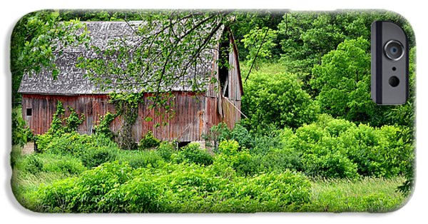 Old Barn iPhone Cases - No Longer Noble iPhone Case by Deb Halloran