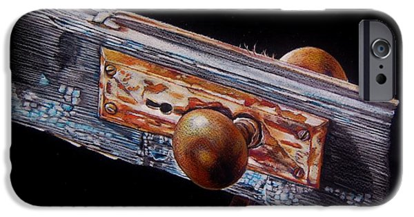 Rust Drawings iPhone Cases - No Longer Useful For Its Intended Purpose iPhone Case by Jean Cormier