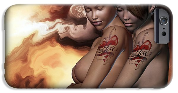 Lesbian iPhone Cases - No More Secrets Revisited iPhone Case by Alexander Butler