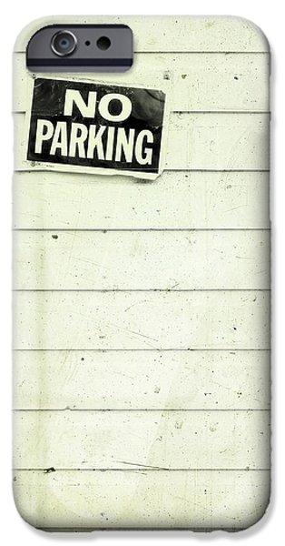 no parking iPhone Case by Priska Wettstein