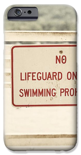 No Swimming iPhone Case by Lisa Russo