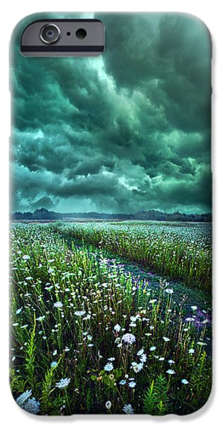Summer Storm iPhone Cases - No Way Out iPhone Case by Phil Koch