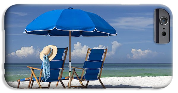 Beach Chair iPhone Cases - No Worries iPhone Case by Janet Fikar