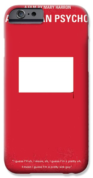 Christian Artwork Digital Art iPhone Cases - No005 My American Psyhco minimal movie poster iPhone Case by Chungkong Art