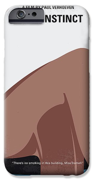 Instinct iPhone Cases - No007 My basic Instinct minimal movie poster iPhone Case by Chungkong Art