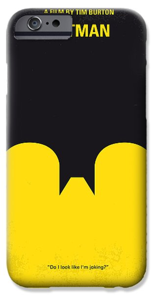Police Art iPhone Cases - No008 My Batman minimal movie poster iPhone Case by Chungkong Art