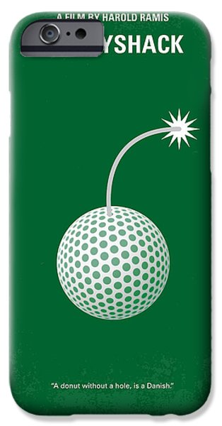 Sports iPhone Cases - No013 My Caddy Shack minimal movie poster iPhone Case by Chungkong Art