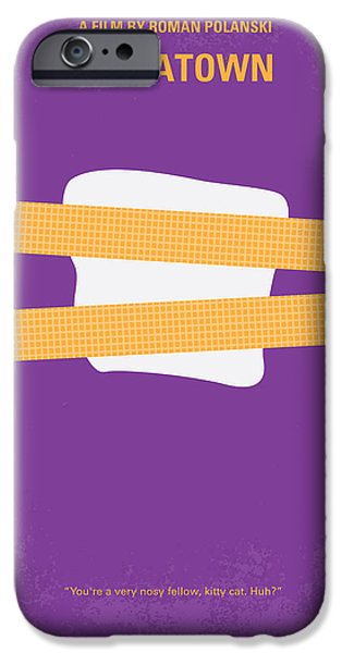 Detectives iPhone Cases - No015 My chinatown minimal movie poster iPhone Case by Chungkong Art