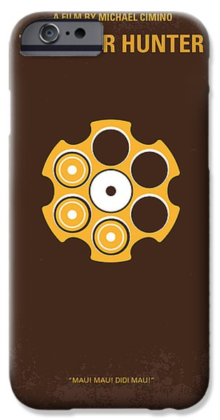 Robert De Niro Digital iPhone Cases - No019 My Deerhunter minimal movie poster iPhone Case by Chungkong Art