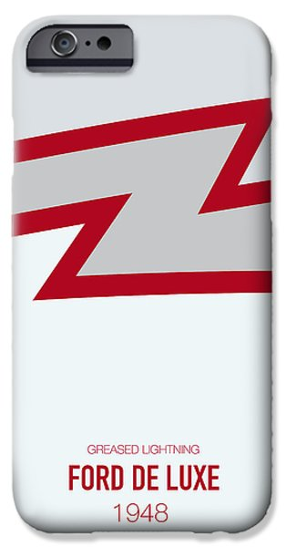 Lightning Digital Art iPhone Cases - No022 My GREASE minimal movie car poster iPhone Case by Chungkong Art