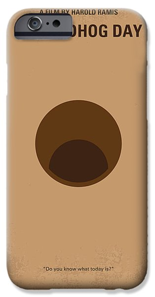 Drama iPhone Cases - No031 My Groundhog minimal movie poster iPhone Case by Chungkong Art