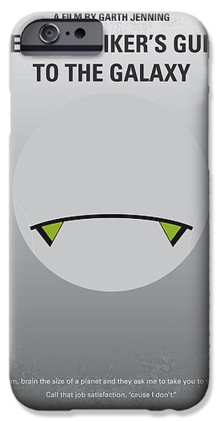 Adam iPhone Cases - No035 My Hitchhiker Guide minimal movie poster iPhone Case by Chungkong Art