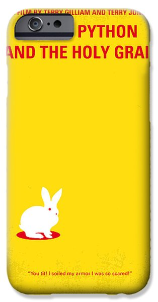 Rabbit iPhone Cases - No036 My Monty Python And The Holy Grail minimal movie poster iPhone Case by Chungkong Art