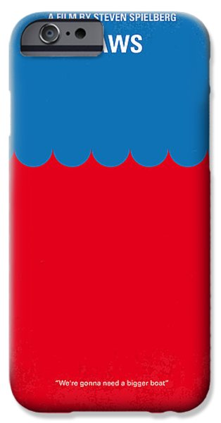 No046 My jaws minimal movie poster iPhone Case by Chungkong Art