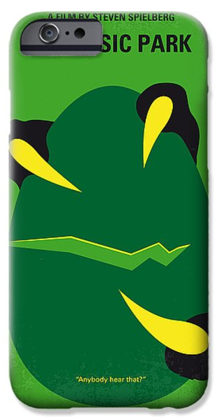 Action iPhone Cases - No047 My Jurassic Park minimal movie poster iPhone Case by Chungkong Art