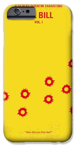 David iPhone Cases - No048 My Kill Bill -part 1 minimal movie poster iPhone Case by Chungkong Art