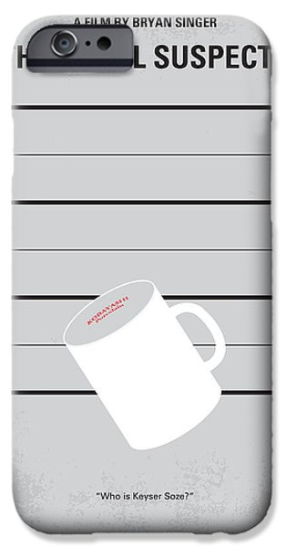 Film iPhone Cases - No095 My The usual suspects minimal movie poster iPhone Case by Chungkong Art