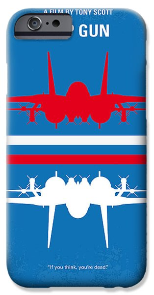 Retro iPhone Cases - No128 My TOP GUN minimal movie poster iPhone Case by Chungkong Art