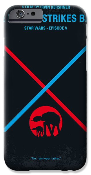 Minimalism iPhone Cases - No155 My STAR WARS Episode V The Empire Strikes Back minimal movie poster iPhone Case by Chungkong Art