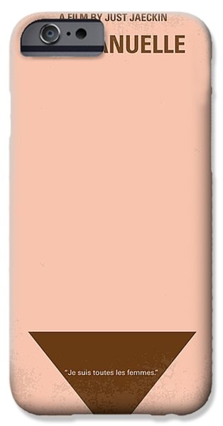Drama iPhone Cases - No160 My Emmanuelle minimal movie poster iPhone Case by Chungkong Art