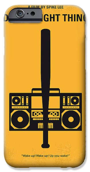 Love Digital Art iPhone Cases - No179 My Do the right thing minimal movie poster iPhone Case by Chungkong Art