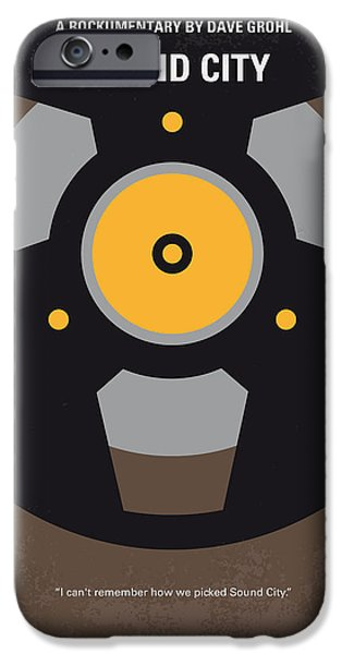 Fighter Digital iPhone Cases - No181 My Sound City minimal movie poster iPhone Case by Chungkong Art