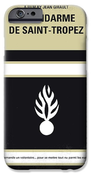 Police Art iPhone Cases - No186 My Le Gendarme de Saint-Tropez minimal movie poster iPhone Case by Chungkong Art
