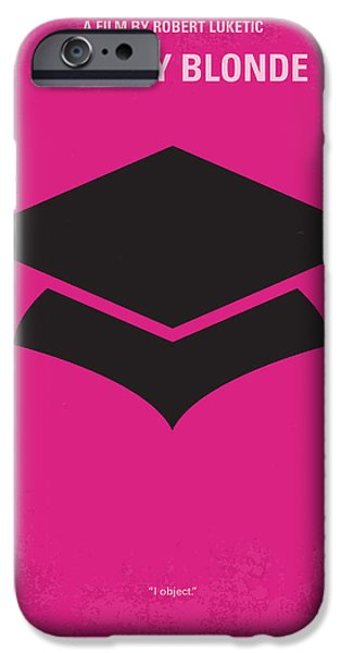 Schools iPhone Cases - No301 My Legally Blonde minimal movie poster iPhone Case by Chungkong Art