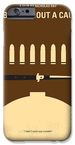 James Dean iPhone Cases - No318 My Rebel without a cause minimal movie poster iPhone Case by Chungkong Art