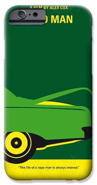 Malibu iPhone Cases - No478 My Repo Man minimal movie poster iPhone Case by Chungkong Art