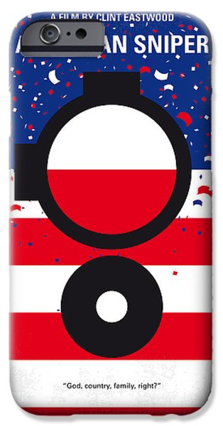Iraq iPhone Cases - No435 My American Sniper minimal movie poster iPhone Case by Chungkong Art