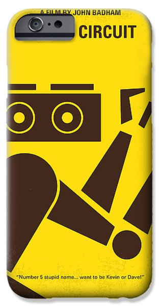 Circuit iPhone Cases - No470 My Short Circuit minimal movie poster iPhone Case by Chungkong Art