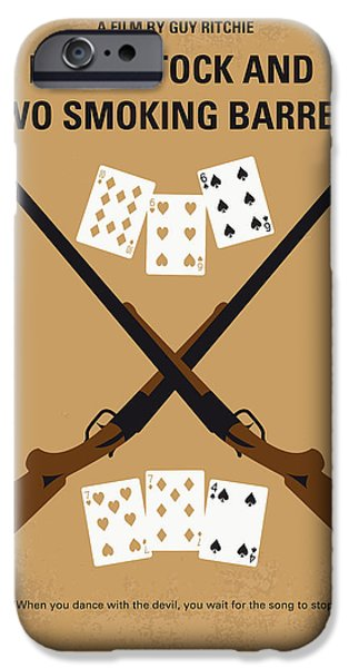 Smoking iPhone Cases - No441 My Lock Stock and Two Smoking Barrels minimal movie poster iPhone Case by Chungkong Art