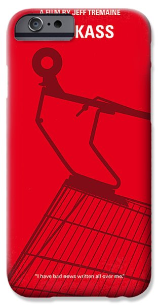 Graphic Design iPhone Cases - No444 My Jackass minimal movie poster iPhone Case by Chungkong Art