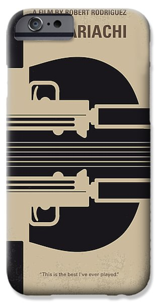 Graphic Design iPhone Cases - No445 My El mariachi minimal movie poster iPhone Case by Chungkong Art