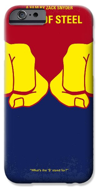 Steel iPhone Cases - No447 My Men of steel minimal movie poster iPhone Case by Chungkong Art