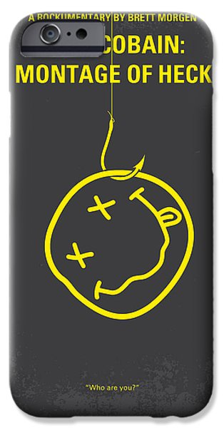 Dave Grohl iPhone Cases - No448 My Montage of Heck minimal movie poster iPhone Case by Chungkong Art